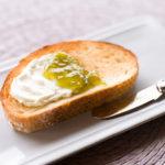 Green Ume Plum Puree on Toast